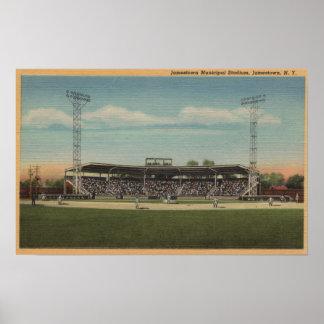 Jamestown, NY - Municipal Baseball Stadium Poster