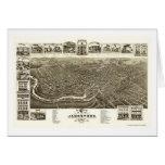 Jamestown, NY Panoramic Map - 1882 Greeting Card