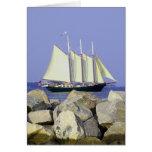 Jamestown Sailboat Greeting Card