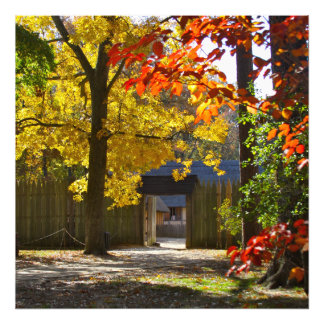 Jamestown Settlement Fort in the Fall Photo Print
