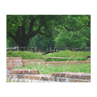 Jamestown Settlement Ruins Canvas Print