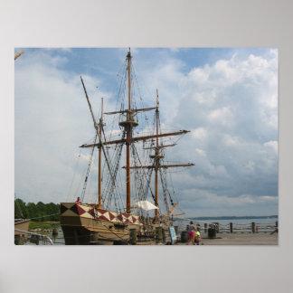 Jamestown, Virginia Ship Poster