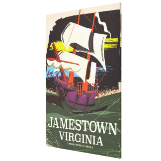 Jamestown, Virginia, vintage travel poster Canvas Print