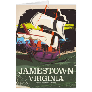 Jamestown, Virginia, vintage travel poster Card