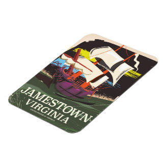 Jamestown, Virginia, vintage travel poster Magnet