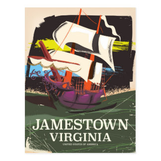 Jamestown, Virginia, vintage travel poster Postcard