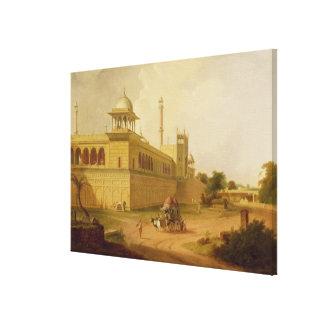 Jami Masjid, Delhi, 1811 (oil on canvas) Canvas Print