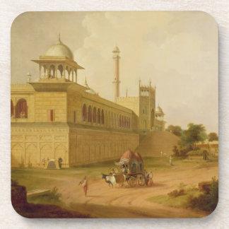 Jami Masjid, Delhi, 1811 (oil on canvas) Drink Coaster