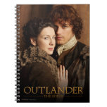 Jamie & Claire embrace photograph Spiral Notebook