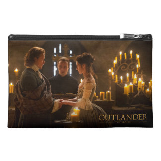 Jamie & Claire's wedding photograph Travel Accessory Bags