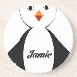 Jamie Penguin Beverage Coaster