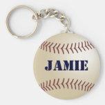 Jamie Personalized Baseball Keychain