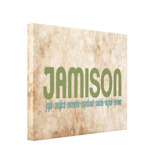 { Jamison } Name Meaning Canvas Print
