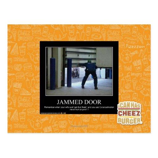 Jammed Door Postcard