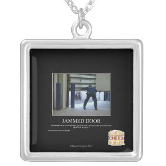 Jammed Door Silver Plated Necklace