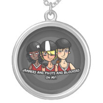 Jammers pivots blockers oh my silver plated necklace