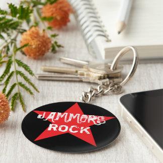 Jammers Rock! Roller Derby Button Keychain