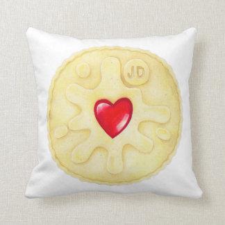 Jammie Dodger Biscuit Cushion Pillow