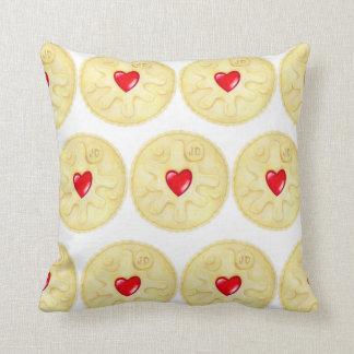 Jammie Dodger Biscuit Pattern Throw Cushion Pillow