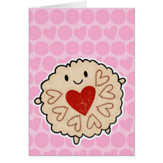 Jammie Dodger Watercolour Stationery Note Card