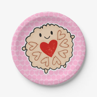 Jammie Dodger Watercolour 7 Inch Paper Plate