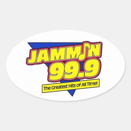 Jammin 99.9 Oval Sticker