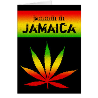 Jammin in Jamaica Reggae Rasta Greeting Card Greeting Cards