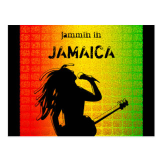 Jammin in Jamaica Reggae Rasta Postcard Postcard