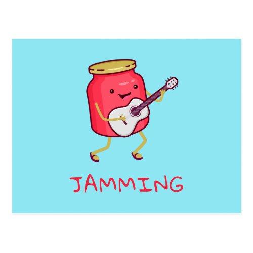 Jamming Pun Postcard