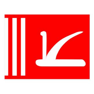 Jammu Kashmir, India flag Postcard