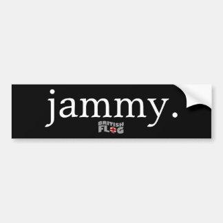 Jammy - argot británico etiqueta de parachoque