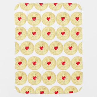 Jammy Dodger Biscuit illustration Baby Blanket
