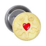 Jammy Dodger Biscuit Illustration Badge