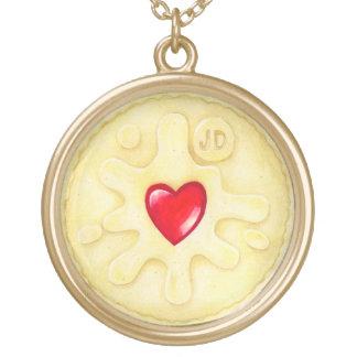 Jammy Dodger Biscuit Illustration Necklace