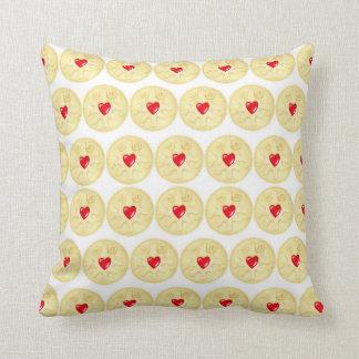 Jammy Dodger Biscuit Illustration Pattern Cushion