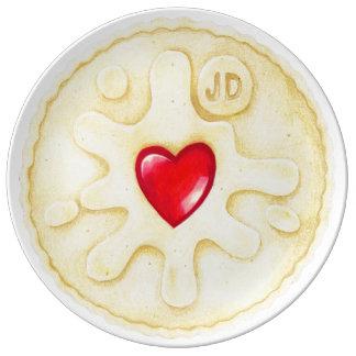 Jammy Dodger Biscuit Illustration Porcelain Plate