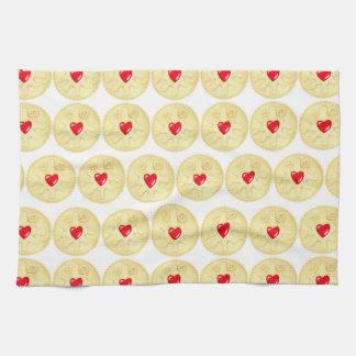 Jammy Dodger Biscuit Illustration Tea Towel