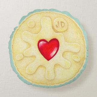 Jammy Dodger Biscuit Round Cushion