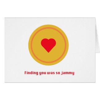 Jammy Dodger greeting card