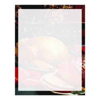 Jamón cocido delicioso, pavo de la carne asada membretes personalizados