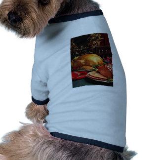 Jamón cocido delicioso, pavo de la carne asada ropa de mascota