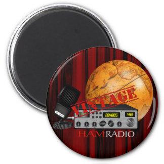 Jamón del vintage (radio) imán redondo 5 cm
