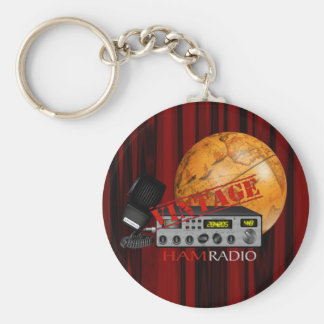 Jamón del vintage (radio) llavero redondo tipo pin