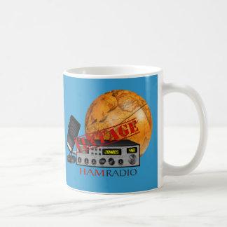 Jamón del vintage (radio) taza básica blanca