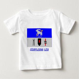 Jämtlands län flag with name infant t-shirt