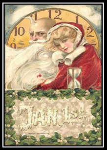 jan 1st old father time new year holiday card