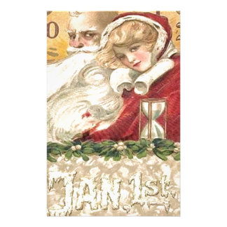 Jan 1st Old Father Time New Year Stationery