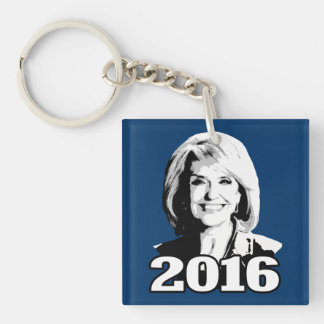 JAN BREWER 2016 CANDIDATE Double-Sided SQUARE ACRYLIC KEYCHAIN