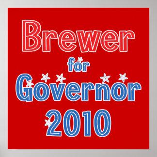 Jan Brewer for Governor 2010 Star Design Print