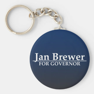Jan Brewer for Governor Basic Round Button Keychain